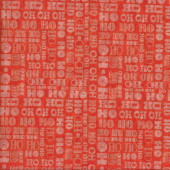 Ho Ho Ho on Red Quilting Fabric