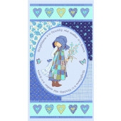 Holly Hobbie Friendship Love Hearts Quilting Fabric Panel