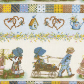 Holly Hobbie Love Hearts Hobby Boys Girls Border Quilt Fabric