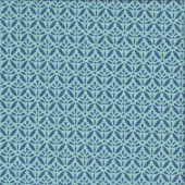 Blue Floret on Blue Quilting Fabric