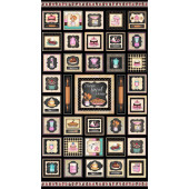 Home Sweet Home Retro Kitchen Baking Squares Quilt Fabric Panel