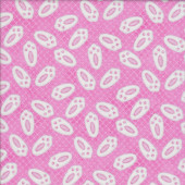 Bunny Rabbit Feet on Pink Hop Quilting Fabric