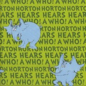 Dr Seuss Horton The Elephant on Green Quilting Fabric See Description