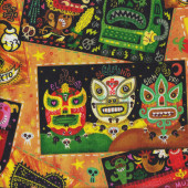 Hot Tamale Tacos Burritos Mexican Food Quilting Fabric