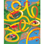 Hot Wheels Cars Roads Boys Kids Licensed Fabric Panel