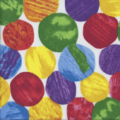 Large Colourful Circles Quilting Fabric