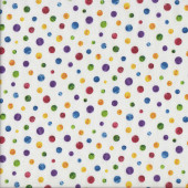 Colourful Spots Very Hungry Caterpillar Quilting Fabric