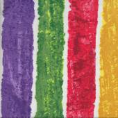 Colourful Stripes on White Quilting Fabric