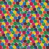 The Very Hungry Caterpillar Colourful Spots Dots Quilting Fabric