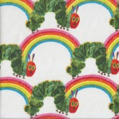 Very Hungry Caterpillar Rainbows Kids Licensed Quilting Fabric
