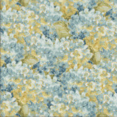 Blue Hydrangea Flowers Floral Quilting Fabric