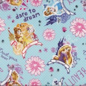 I Am A Princess Cinderella Rapunzel Girls Kids Licensed Fabric