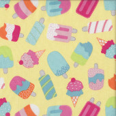 Ice Creams Ice Blocks Chasing Waves Quilting Fabric