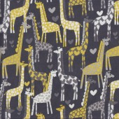 Giraffe on Grey Quilting Fabric