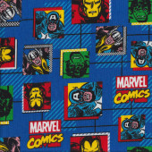 Marvel Avengers Blue Quilting Fabric
