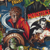 Monsters Frankenstein Dracula Haunted House Horror Quilting Fabric