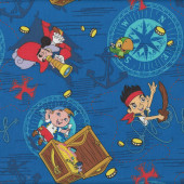 Jake and The Neverland Pirates Boys Kids Licensed Quilt Fabric