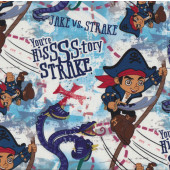 Jake and The Neverland Pirates on White Kids Licensed Quilt Fabric