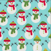 Snowman Jingle Quilting Fabric