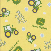 John Deere Tractors Born To Farm Sunflowers Girls Quilting Fabric