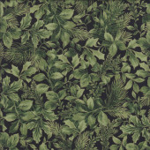 Green Pine Holly Leaves Quilting Fabric