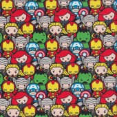 Marvel  Kawaii Avengers Assemble Boys Licensed Quilting Fabric