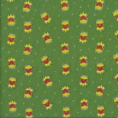 Muppets Kermit The Frog on Green Licensed Quilting Fabric