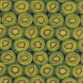 Kiwi Fruit Green New Zealand NZ Kiwifruit Patchwork Quilt Fabric