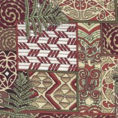 Maori Kowhaiwhai Quilting Fabric