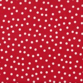 White Spots on Red Laminated Pul Waterproof Fabric