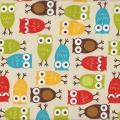 Owls Urban Zoologie Laminated Pul Waterproof Fabric