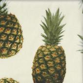 Pineapple on Cream Fruit LARGE PRINT Fabric