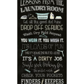Lessons of The Laundry Room Rules Washing Quilting Fabric Panel