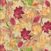 Autumn Leaves Quilting Fabric