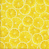 Lemon Slices Lemon Fresh Fruit Quilting Fabric