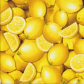 Whole Yellow Lemons Lemon Fresh Fruit Quilting Fabric