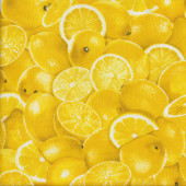 Yellow Lemons and Wedges Quilting Fabric