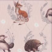 Little Aussie Friends Australian Animals on Light Peach Quilting Fabric