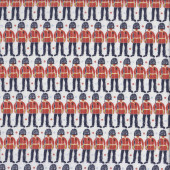 Royal Guards on White Love From London England British Quilting Fabric
