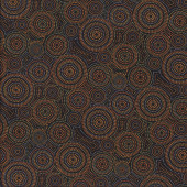 Malkamalka Spot Brown Quilting Fabric