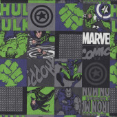 Marvel on Green Licensed Quilting Fabric
