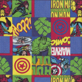 Marvel in Squares Quilting Fabric