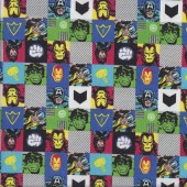 Marvel in Squares Licensed Quilting Fabric