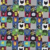 Marvel in Squares Licensed Quilting Fabric