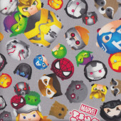 Junior Marvel Tsum Tsum Spiderman Fabric