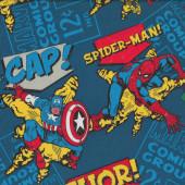 Marvel Avengers Hulk Thor Captain America Spiderman Boys Licensed Fabric