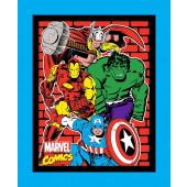 Marvel Avengers Thor Captain America Hulk Ironman Quilt Fabric Panel