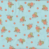 Bees Little Menagerie Blue Melly And Me Quilting Fabric