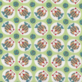 Owls Little Menagerie Green Melly And Me Quilting Fabric