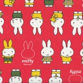 Miffy on Orange Check Girls Kids Licensed Fabric